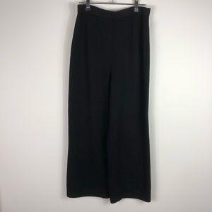 St. John Basics Black Santana Knit Long Pants 8